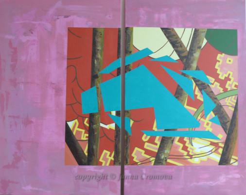 Green Horse, Diptych, 2009, 30x48