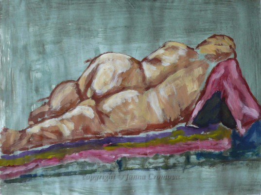 Nude - acrylic on paper, 2009, 16x21.6