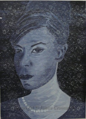 Stranger - acrylic on paper, 53x72cm