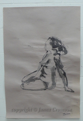 Nude1 - ink on paper, 63x87cm