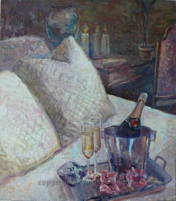 Open Champagne - oil on board, 2012, 48x55cm