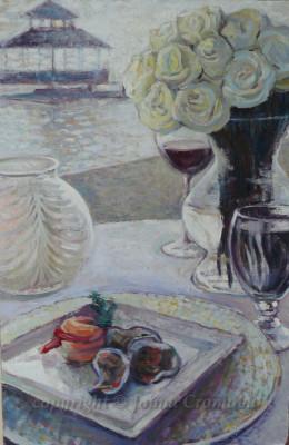 White Roses - Oil on board, 2012, 15x22.8