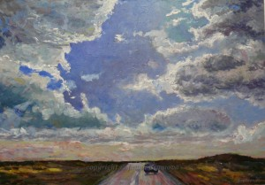 """Sky - Oil on board, 2011, 26.5x18.5"""" (67x47cm)"""