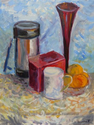 Little Still Life - oil on board, 2010, 13.5x17.25