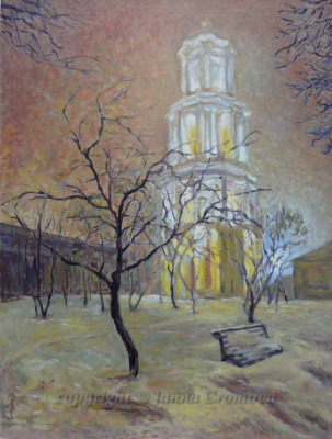 Church - oil on board, 2012, 24