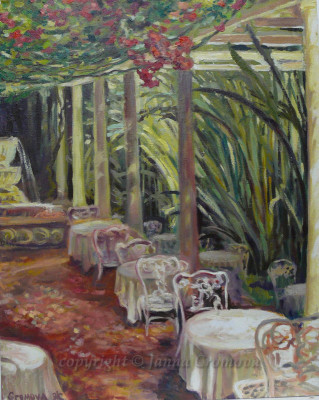 Italian Cafe - oil on canvas, 2012, 16x20