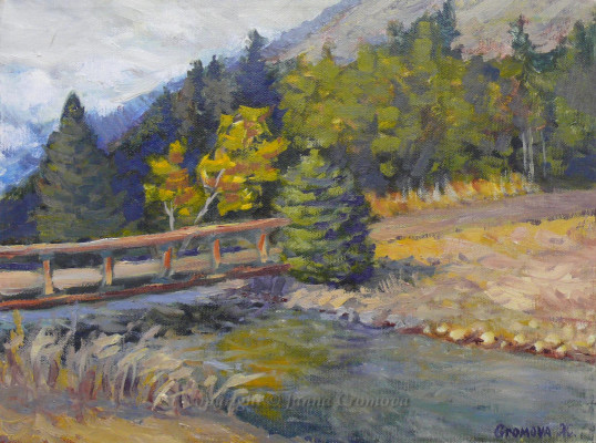 Old Little Bridge - oil on canvas, 2005, 12x16