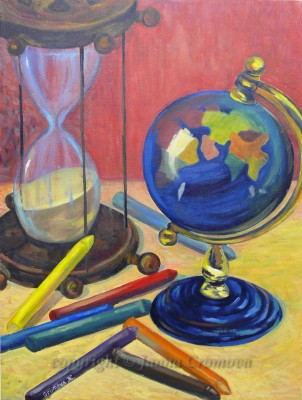 Space and Ttime - oil on canvas, 2007, 18x24