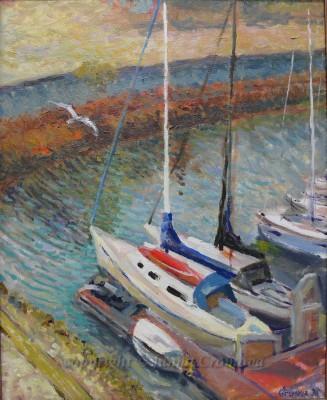 Yachts - oil on canvas, 2009, 16x20