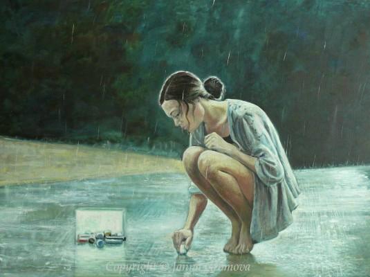 Rain - oil on canvas, 30 x 40 (76 X 101 cm), 2014