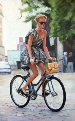Urban Grace - oil on canvas, 30x48
