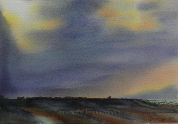 Horizons - watercolour, 20x29cm