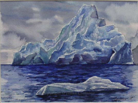 Iceberg - watercolour, 21x28cm