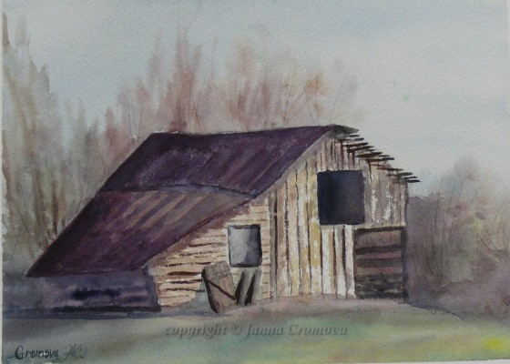 Old Barn - watercolour, 19x27cm