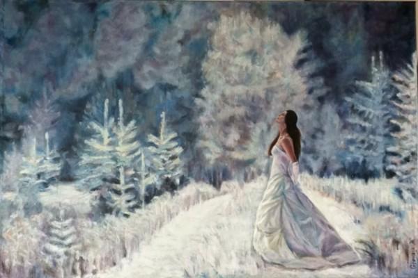 Winter Bride - oil on canvas, 24x36